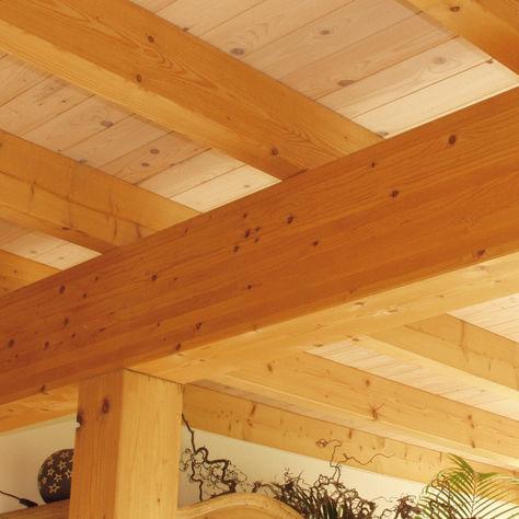 Fertigbau-Träger / Holz / rechteckig