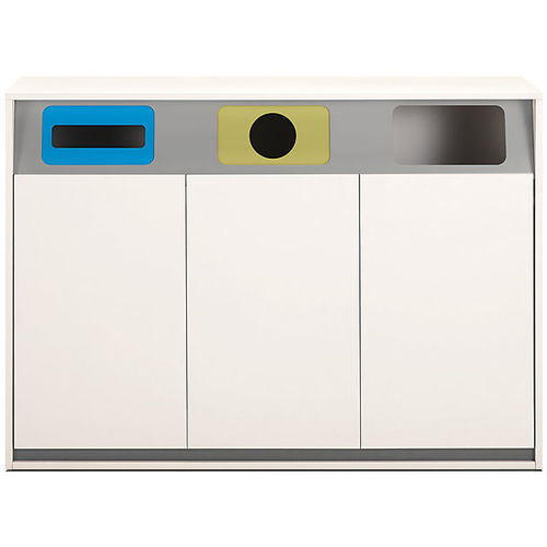 Metall-Abfallbehälter / System / für Büro