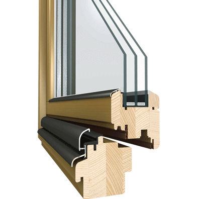 Dreh-Kippfenster / Holz / 3-Fach-Verglasung / mit Wärmedämmung