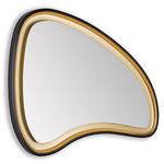 wandmontierter Spiegel für Badezimmer / LED beleuchtet / modern / aus MDF