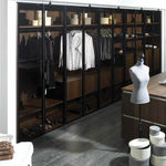 moderner begehbarer Kleiderschrank
