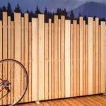 Platten-Seitenbeschattung / Holz