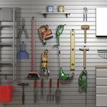 wandmontiertes Ablagesystem / modern / Aluminium / für Garagen
