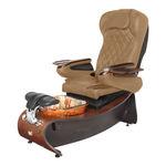 Fusspflegestuhl mit Wellnessbecken / mit Kopfstütze