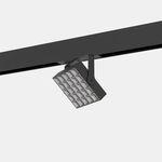 LED-Schienenleuchte / quadratisch / Metall / für Geschäfte