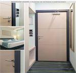 Tür für Innenbereich / einflügelig / Aluminium / Edelstahl