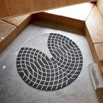 moderner Teppich / Geometrische Motive / Neuseeland Wolle / rund