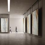 Feinsteinzeug-Steinplatte / poliert / für Wände / für Fußböden