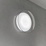 moderne Wandleuchte / geblasenes Glas / LED / rund