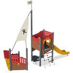 Spielplatzgerät für Spielplätze / HPL / modular