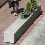 Beton-Pflanzkübel / rechteckig / modulierbar / modern