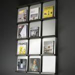 moderner Zeitschriftenständer / für Büro / Stahl / Aluminium