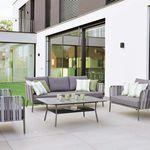 klassisches Sofa / Außenbereich / Stoff / Aluminium
