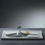 Faserbeton-Arbeitsplatte / für Küchen / frostsicher / grau
