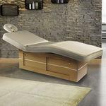 elektrische Massageliege / Holz / höhenverstellbar / mit Stauraum