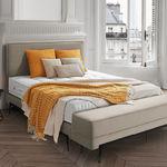Kopfteil für Doppelbetten / modern / Stoff / Leder