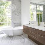 modernes Badezimmer / aus Eiche / aus Nussbaum