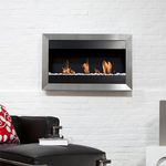 Bioethanol-Kamin / modern / offene Feuerstelle / wandmontiert