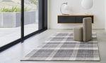 moderner Teppich / Karomuster / Wolle / Baumwolle