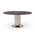 Moderner Tisch / Holz / Marmor / mit Fußgestell aus Metall