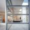 zerlegbare Trennwand / festinstalliert / Holz / Glas