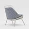 moderner Sessel / Stoff / Stahl / Aluminium