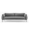 modernes Sofa / Stoff / Leder / lackiertes Aluminium