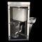 freistehendes WC / Edelstahl / all-in-one-System mit Handwaschbecken