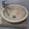 Aufsatzwaschbecken / rund / Holz / modern