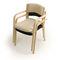moderner Stuhl / Stapel / mit Armlehnen / Polster