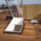 Luke / am Dach / rechteckig / verglast / Metall