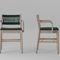 Stuhl / skandinavisches Design / Polster / mit Armlehnen / Samt