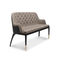 modernes Sofa / Samt / Leder / Messing