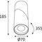 Downlight für Aufbau / LED / rund / Aluminiumguss