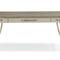 Schreibtisch / lackiertes Holz / goldfarbenes Metall / Stoff / klassisch