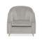 klassischer Sessel / Samt / Standard-Fußgestell / Kissen