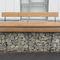 Parkbank / modern / aus Iroko / verzinkter Stahl
