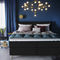 Doppelbett / Einpersonen / skandinavisches Design / Polster