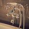Mischbatterie für Duschen / für Badewanne / wandmontiert / verchromtes Metall