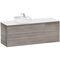 wandmontierter Waschtisch-Unterschrank / Spanplatte / modern / Schubladen