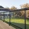 Glasgeländer / Aluminium / mit Stangen / Außenbereich