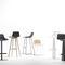 Barhocker / originelles Design / Stoff / Stahl / aus Eiche
