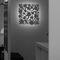 moderne Wandleuchte / Metall / LED / quadratisch