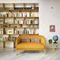 modernes Sofa / Stoff / 2 Plätze / beige