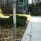 moderner Leuchtpoller / Edelstahl / Glas / LED