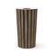 Park-Abfallbehälter / verzinkter Stahl / Holz / modern