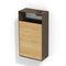 Stahl-Abfallbehälter / Holz / Objektmöbel / modern