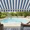 Gewebe für Sonnenschutz / uni / Streifenmuster / aus Acryl