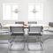 Konferenzstuhl mit Armlehnen / mit Überhang / Netz / Leder