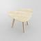 Tisch / originelles Design / aus Eiche / Massivholz / aus Nussbaum